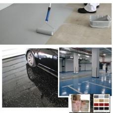 Zestaw materiałów żywica plus płatki  na 10-15m2 do malowania garażu,kotłowni,magazynu