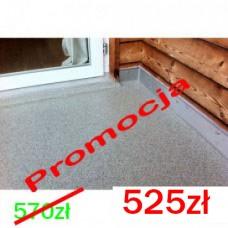 Zestaw żywic do wykonania posadzki balkonowej malowanej anty-poślizgowej 10m2=52zł/m2