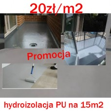 Hydroizolacja poliuretanowa odporna UV Waterproofing Pur 500   15-20m2