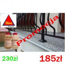 Żywica poliuretanowa alifatyczna do kamiennych dywanów na 50kg kruszywa Micronfloor Polyurethane Transparente UV Fast-