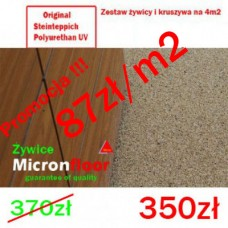 Kamienny dywan poliuretanowy UV zestaw  na 4m2