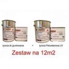 Zestaw lustrzany poliurtanowy UV na 12m2