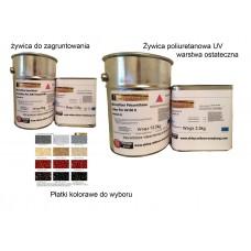 Zestaw żywic na balkony ,tarasy  wydajność 30m2. (poliuretanowy UV)