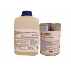 Żywica poliuretanowa plus zagęstnik (pasta) na piony kamienny dywan Micronfloor Polyurethane Transparente UV Fast 1K